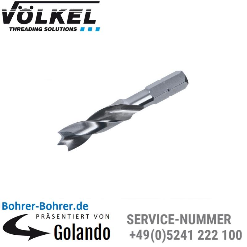 8,0 mm VÖLKEL Holz-Spiralbohrer-Bits HSS