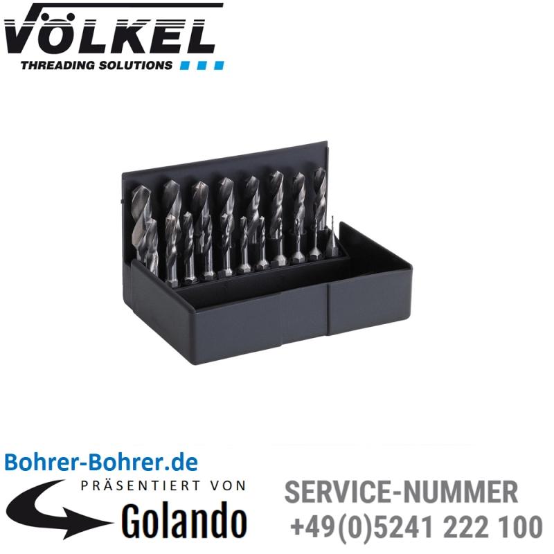 in 0.5 Schritten VÖLKEL Spiralbohrer-Bit-Satz 1-10 67100 HSS-G