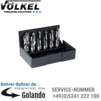 Spiralbohrer-Bit-Satz, 3,0 - 10,0 mm, HSS-G, Kunststoff-Kassette