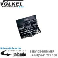M 3-4-5-6-8-10-12, plus Schneideisen und Halter, Metall-Kassette