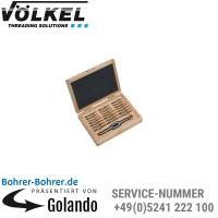 Handgewindebohrer DIN 352, 3 Gang, in Holz-Kassette